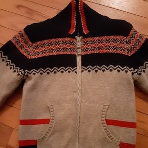 Lined sweater jacket.